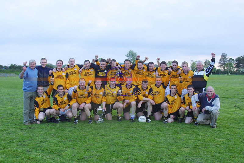 The Listowel Emmets Team who won the North Kerry Div 3 championship against Moyvane  in St Sennans pitch in Mountcoal.<br /> Pic Brendan Landy