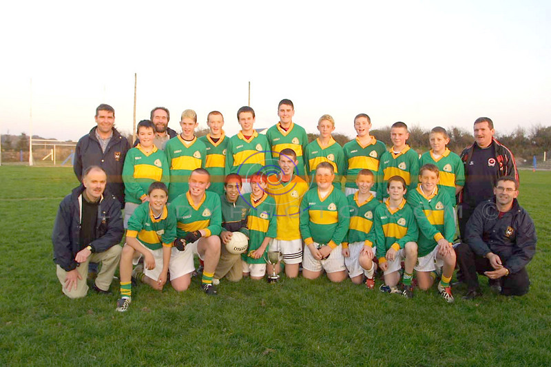 The Mitchels U/14 team who won the North Kerry Championship final in Mountcooal beating Listowel Emmets.<br /> Pic Brendan Landy