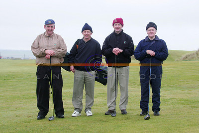 Sean Cocran, Neile Halpin , Pat Mulvihill and Sean O Sullivan partaking  in the Ballybunion Golf Club Winter league. Pnhoto Brendan Landy