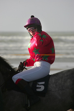 Young Debie MAngan from Cork who was later to have a scare on her mount Mind the bends when she got her foot caught in the stirups. Photo Brendan Landy