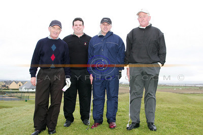 Oliver Keirns, David Keirns, John McEnery and Jim McKenna  partaking in the Ballybunion Golf Club Winter league. Photo Brendan Landy