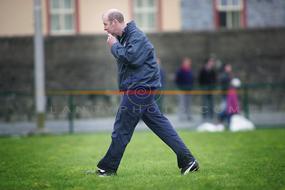 Former kerry forward and now Clare manager John Kennedy  at the Kerry  Clare  frendly game  in Listowel. Photo Brendan Landy