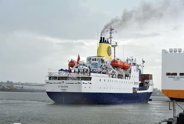 RMSSt Helena Tilbury Docks.