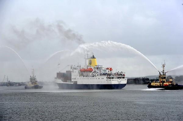 RMS St Helena. Tilbury