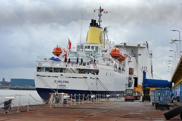 RMS St Helena's  last departure from UK.
