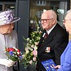 Her Majesty The Queen talks to residents at Priory View, an independent living development in Dunstable.