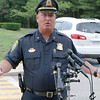 Shirley Police Chief Thomas Goulden talks about the jogging incident in the town at a press conference at the station on Thursday morning. SENTINEL & ENTERPRISE/JOHN LOVE