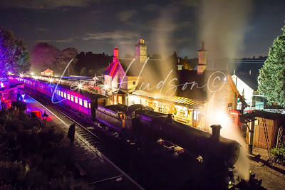 All aboard the SVR ghost train, Arley, UK