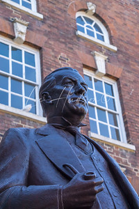 Statue of Stanley Baldwin three times British Prime Minister unveiled, Bewdley, UK