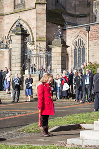 Remembrance Sunday commemoration, Kidderminster, UK