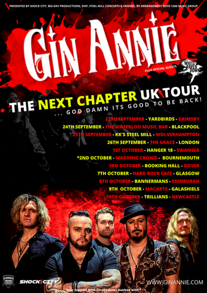 Gin Annie 2021 UK Tour Full Poster MASTER