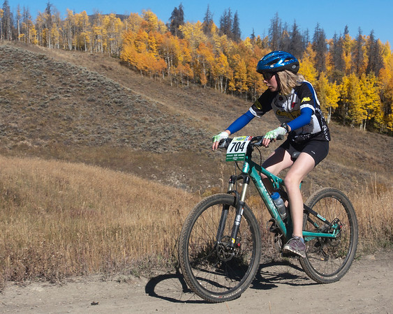 Laura Lufkin, Leadville 4th place girl Freshman rider. Photo Carrie Dittmer.