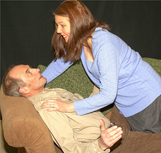 "Colin Nichols as Andy and Theresa Masters as Hanna in Brian Friel's ""Lovers."" Photo credit: John Lamb"