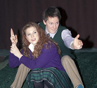 "Betsy Bowman as Mag, John Lampe as Joe in Brian Friel's ""Lovers"".  Photo credit: John Lamb"