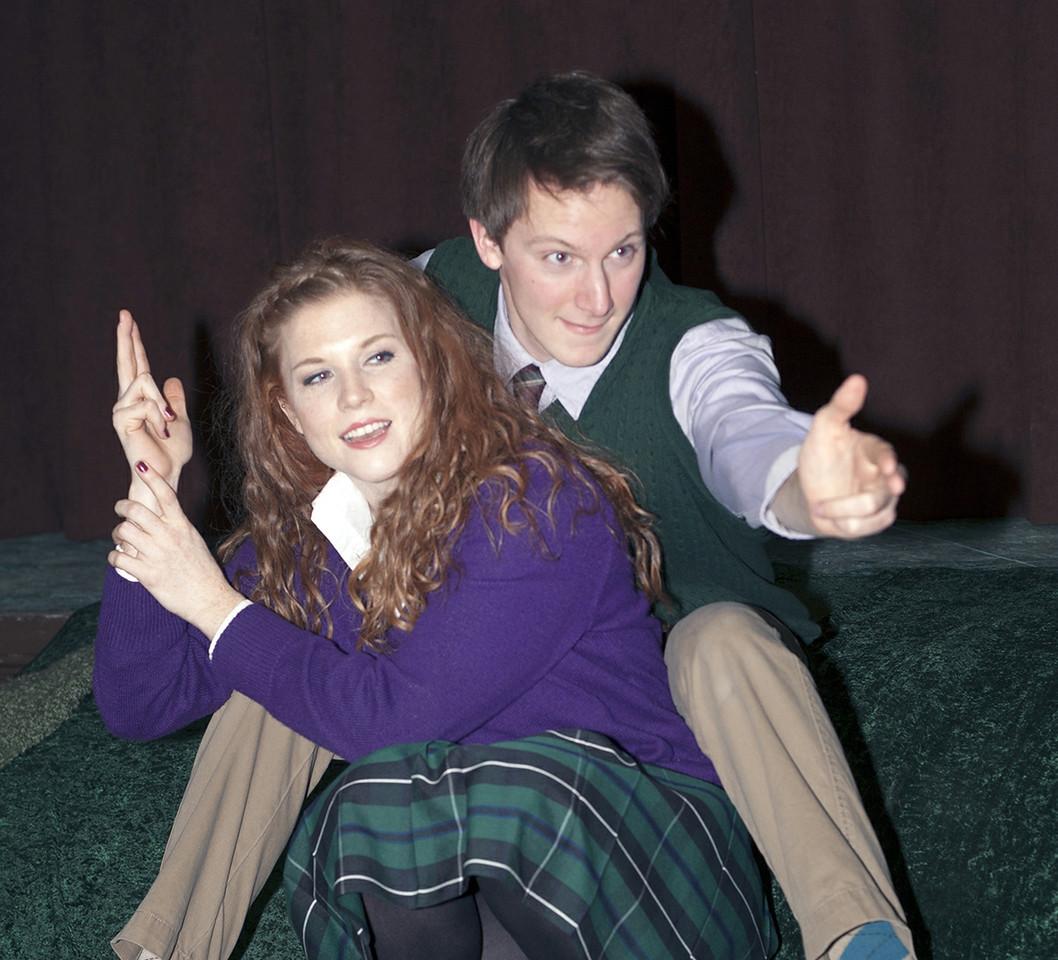 """Betsy Bowman as Mag, John Lampe as Joe in Brian Friel's """"Lovers"""".  Photo credit: John Lamb"""