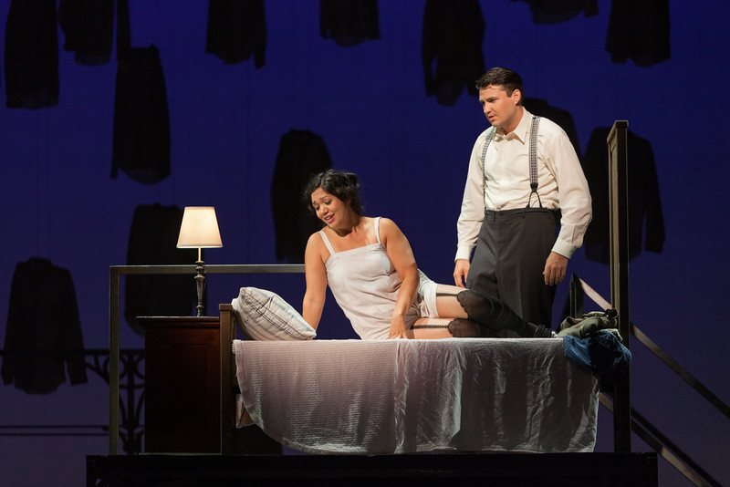 "Vanessa Isiguen as Roberta Alden and Christian Bowers as Clyde Griffiths in The Glimmerglass Festival's new production of Tobias Picker's ""An American Tragedy."" Photo: Karli Cadel/The Glimmerglass Festival."