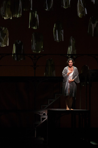 "Vanessa Isiguen as Roberta Alden in The Glimmerglass Festival's new production of Tobias Picker's ""An American Tragedy."" Photo: Jessica Kray/The Glimmerglass Festival."