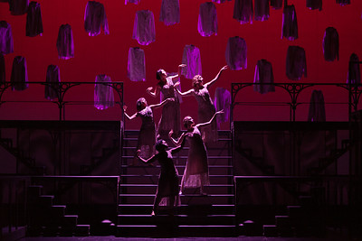 """The ensemble in The Glimmerglass Festival's new production of Tobias Picker's """"An American Tragedy."""" Photo: Karli Cadel/The Glimmerglass Festival."""