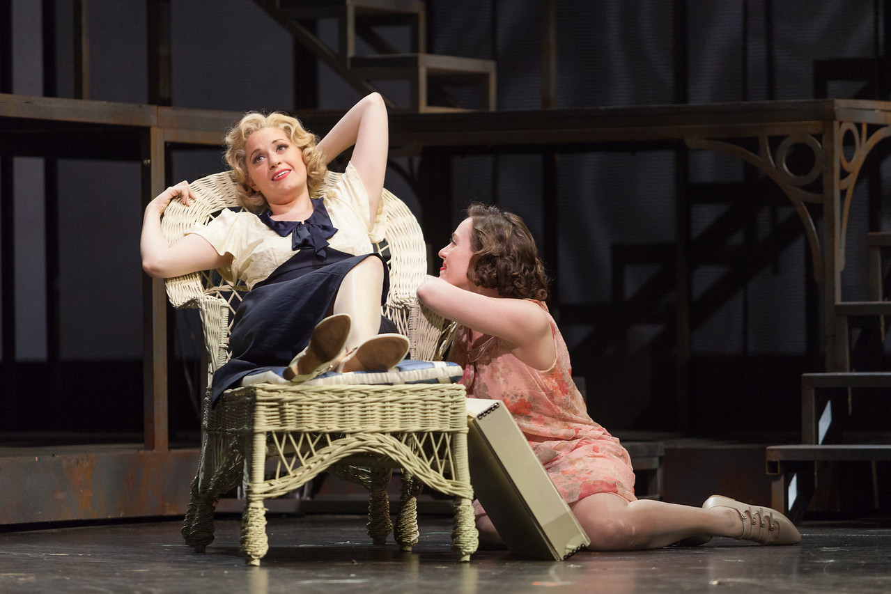 """Cynthia Cook as Sondra Finchley and Meredith Lustig as Bella Griffiths in The Glimmerglass Festival's new production of Tobias Picker's """"An American Tragedy."""" Photo: Karli Cadel/The Glimmerglass Festival."""