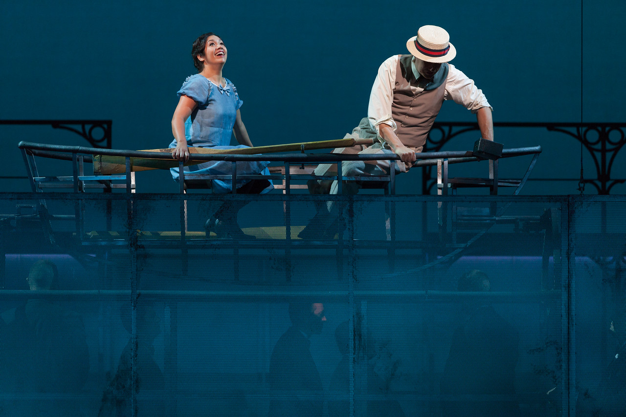 """Vanessa Isiguen as Roberta Alden and Christian Bowers as Clyde Griffiths in The Glimmerglass Festival's new production of Tobias Picker's """"An American Tragedy."""" Photo: Karli Cadel/The Glimmerglass Festival."""