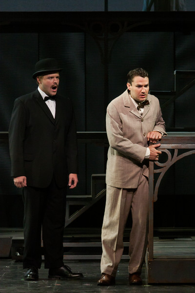 "Thomas Richards as Orville Mason and Christian Bowers in The Glimmerglass Festival's new production of Tobias Picker's ""An American Tragedy."" Photo: Jessica Kray/The Glimmerglass Festival."