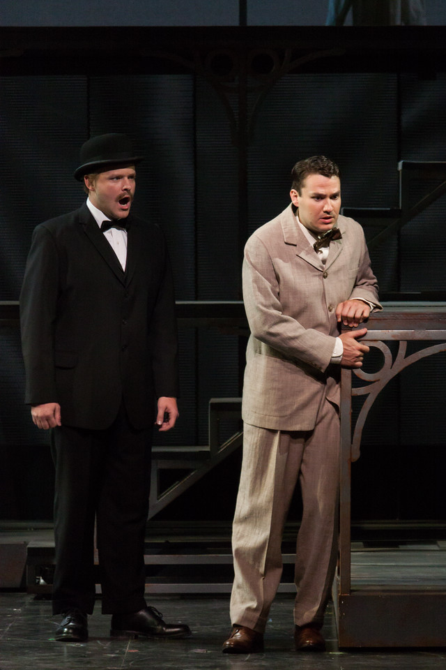 """Thomas Richards as Orville Mason and Christian Bowers in The Glimmerglass Festival's new production of Tobias Picker's """"An American Tragedy."""" Photo: Jessica Kray/The Glimmerglass Festival."""