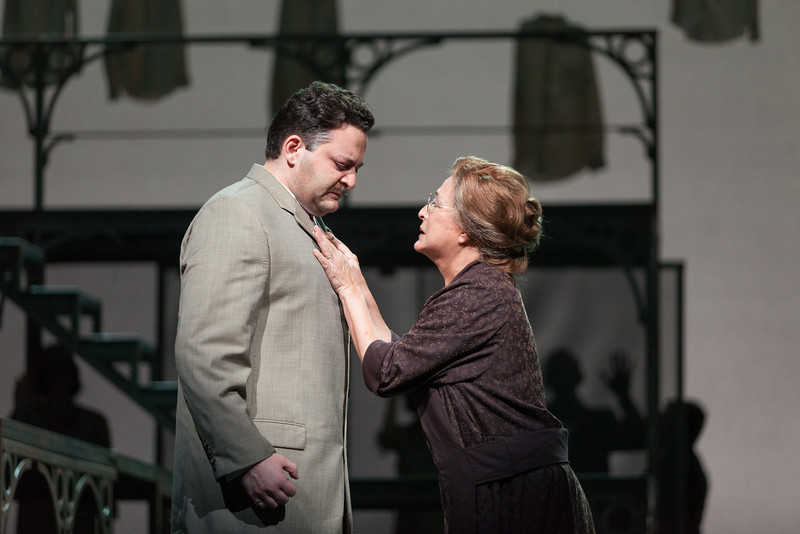 "Aleksey Bogdanov as Samuel Griffiths and Patricia Schuman as Elvira Griffiths in The Glimmerglass Festival's new production of Tobias Picker's ""An American Tragedy."" Photo: Karli Cadel/The Glimmerglass Festival."