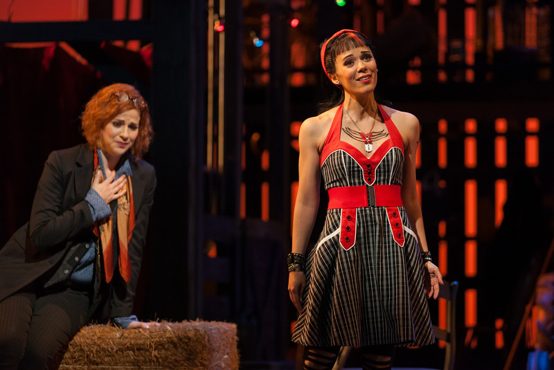 "Catherine Martin as Composer and Rachele Gilmore as Zerbinetta in The Glimmerglass Festival's 2014 production of Strauss' ""Ariadne in Naxos."" Photo: Karli Cadel/The Glimmerglass Festival."