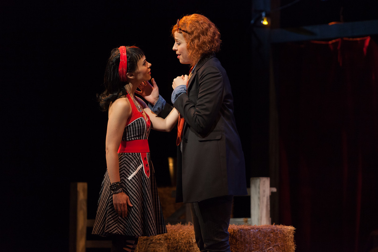 "Rachele Gilmore as Zerbinetta and Catherine Martin as Composer in The Glimmerglass Festival's 2014 production of Strauss' ""Ariadne in Naxos."" Photo: Karli Cadel/The Glimmerglass Festival."