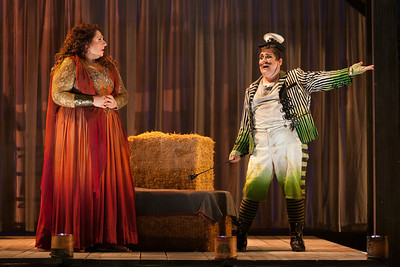 "Christine Goerke as Ariadne and Brian Ross Yeakley as Brighella in The Glimmerglass Festival's 2014 production of Strauss' ""Ariadne in Naxos."" Photo: Karli Cadel/The Glimmerglass Festival."