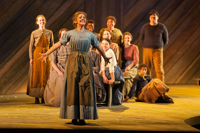 "Sharin Apostolou as Carrie Pipperidge and members of the ensemble in in The Glimmerglass Festival's 2014 production of Rodgers and Hammerstein's ""Carousel."" Photo: Karli Cadel/The Glimmerglass Festival."