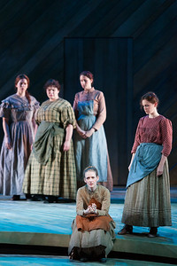 "Jeni Houser as Arminy (center) with members of the ensemble in The Glimmerglass Festival's 2014 production of Rodgers and Hammerstein's ""Carousel."" Photo: Karli Cadel/The Glimmerglass Festival."