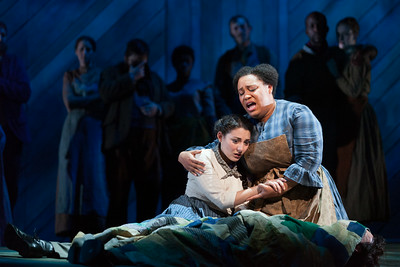 """Andrea Carroll as Julie Jordan and Deborah Nansteel as Nettie Fowler in The Glimmerglass Festival's 2014 production of Rodgers and Hammerstein's """"Carousel."""" Photo: Karli Cadel/The Glimmerglass Festival."""