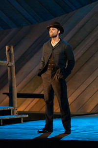 "Ryan McKinny as Billy Bigelow in The Glimmerglass Festival's 2014 production of Rodgers and Hammerstein's ""Carousel."" Photo: Karli Cadel/The Glimmerglass Festival."