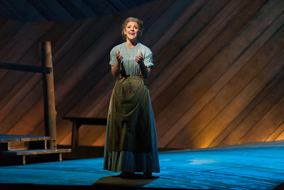 "Sharin Apostolou as Carrie Pipperidge in The Glimmerglass Festival's 2014 production of Rodgers and Hammerstein's ""Carousel."" Photo: Karli Cadel/The Glimmerglass Festival."