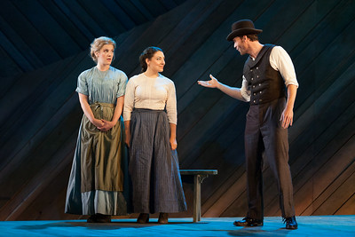 "Sharin Apostolou as Carrie Pipperidge, Andrea Carroll as Julie Jordan and Ryan McKinny as Billy Bigelow in The Glimmerglass Festival's 2014 production of Rodgers and Hammerstein's ""Carousel."" Photo: Karli Cadel/The Glimmerglass Festival."