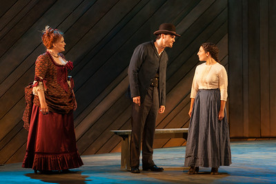 "L to R: Rebecca Finnegan as Mrs. Mullin, Ryan McKinny as Billy Bigelow and Andrea Carroll as Julie Jordan in The Glimmerglass Festival's 2014 production of Rodgers and Hammerstein's ""Carousel."" Photo: Karli Cadel/The Glimmerglass Festival."