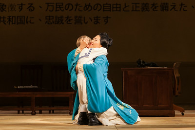 """Yunah Lee as Cio-Cio-San and Louis McKinny as Sorrow in The Glimmerglass Festival's 2014 production of Puccini's """"Madame Butterfly."""" Photo: Karli Cadel/The Glimmerglass Festival."""
