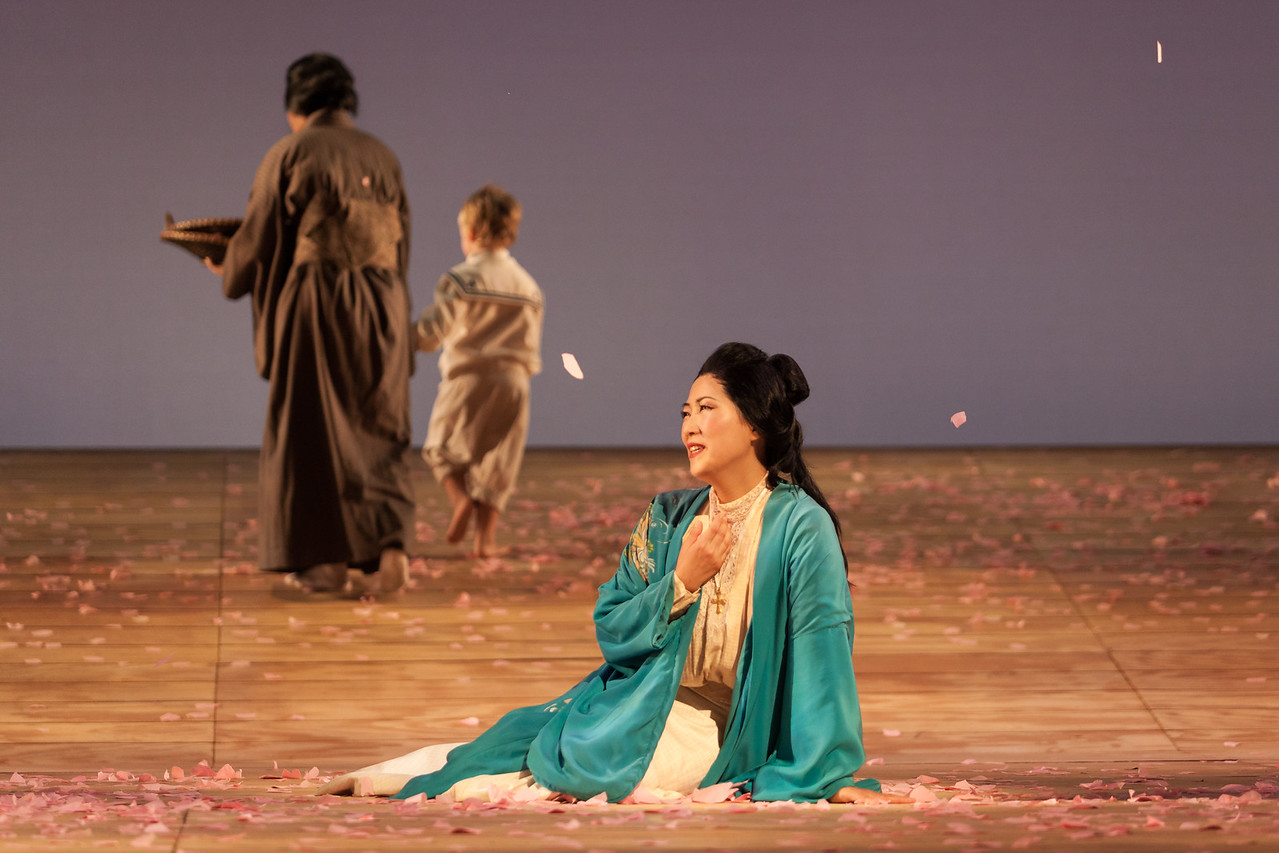 """Yunah Lee as Cio-Cio-San in The Glimmerglass Festival's 2014 production of """"Madame Butterfly."""" Photo: Karli Cadel/The Glimmerglass Festival."""