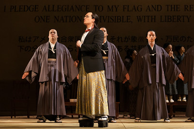 """Sean Michael Plumb as Prince Yamadori and members of the ensemble in The Glimmerglass Festival's 2014 production of Puccini's """"Madame Butterfly."""" Photo: Karli Cadel/The Glimmerglass Festival."""