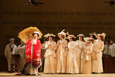 """Yunah Lee as Cio-Cio-San and members of the ensemble in The Glimmerglass Festival's 2014 production of """"Madame Butterfly."""" Photo: Karli Cadel/The Glimmerglass Festival."""