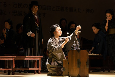 """Kristen Choi as Suzuki in The Glimmerglass FEstival's 2014 production of Puccini's """"Madame Butterfly."""" Photo: Karli Cadel/The Glimmerglass Festival."""