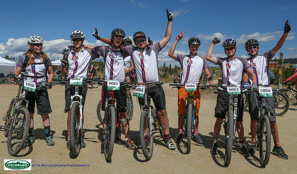 Buena Vista racers proudly displays their new team jersey. Photo Leslie Farnsworth-Lee.