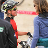 Ben Wiens, Freshman D2, Gunnison, greeted at finish line, by his mom, Susan Demattei.