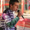 Greg Kates, JV D1, Boulder High sings National Anthem.