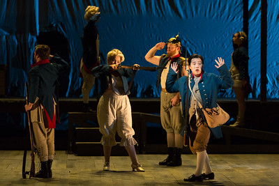 "Andrew Stenson as Candide and ensemble in The Glimmerglass Festival's 2015 production of Bernstein's ""Candide."" Photo: Karli Cadel/The Glimmerglass Festival."
