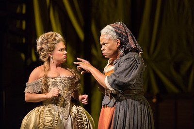 "Kathryn Lewek as Cunegonde and Marietta Simpson as The Old Lady in The Glimmerglass Festival's 2015 production of Bernstein's ""Candide."" Photo: Karli Cadel/The Glimmerglass Festival."