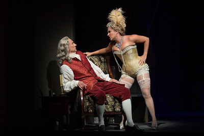"David Garrison as Voltaire and Kathryn Lewek as Cunegonde in The Glimmerglass Festival's 2015 production of Bernstein's ""Candide."" Photo: Karli Cadel/The Glimmerglass Festival."