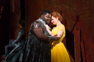 "John Holiday as Caesar and Megan Samarin as Marzia in The Glimmerglass Festival's 2015 production of Vivaldi's ""Cato in Utica."" Photo: Karli Cadel/The Glimmerglass Festival."