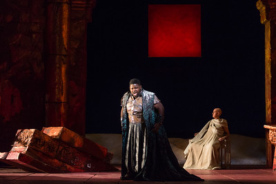 "John Holiday as Caesar and Thomas Michael Allen as Cato in The Glimmerglass Festival's 2015 production of Vivaldi's ""Cato in Utica."" Photo: Karli Cadel/The Glimmerglass Festival."